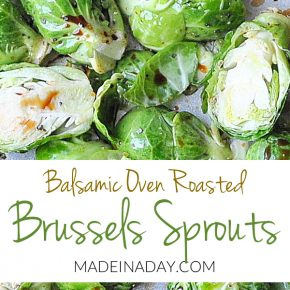 Oven Roasted Balsamic Brussels Sprouts 1