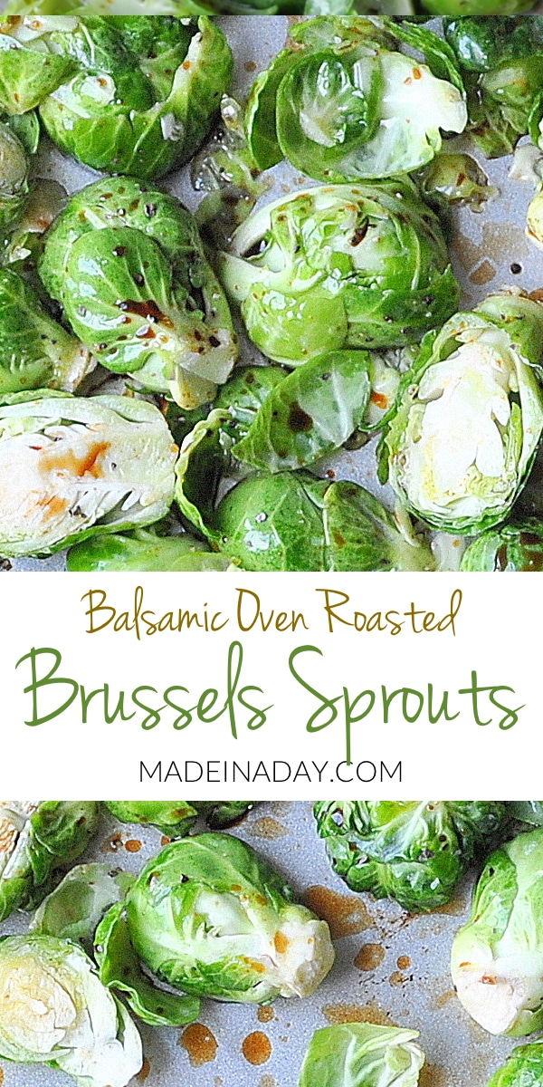 Oven #Roasted Balsamic #Brussels Sprouts! Try out this healthy, super easy Brussels #Sprouts Recipe! Baked brussels sprouts, how to make brussels sprouts, brussels sprout recipe, low carb, paleo