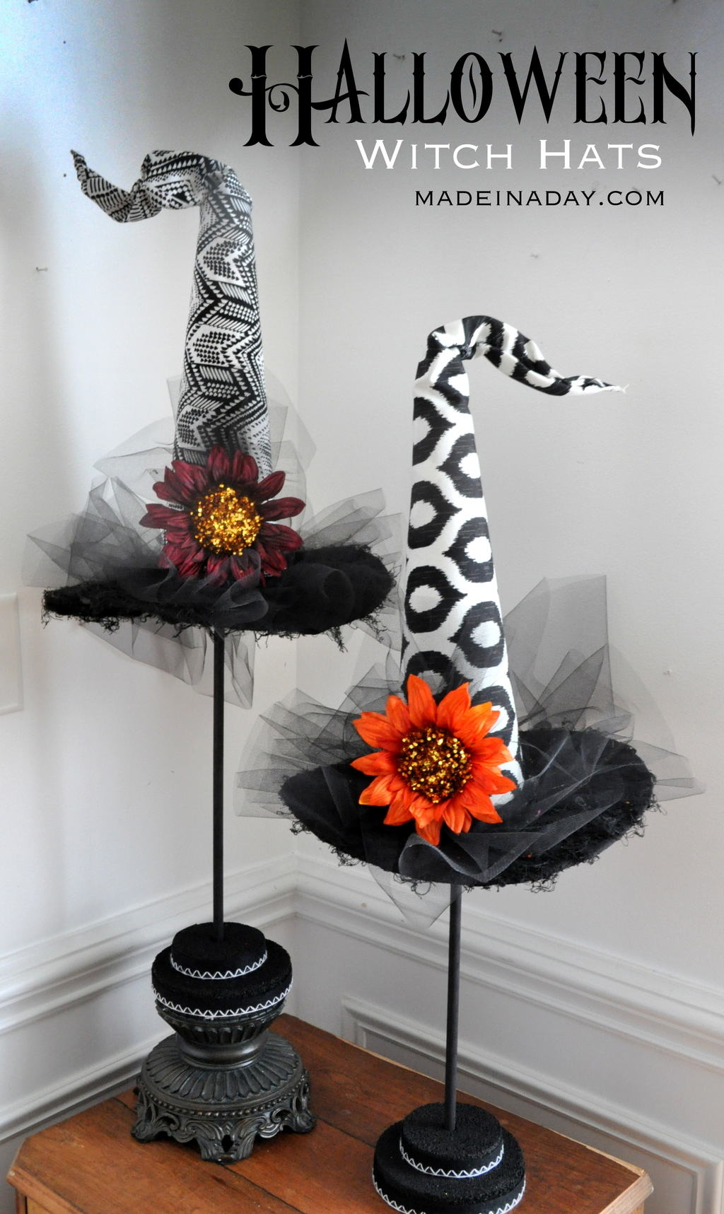 DIY Decorative Witch Hats Halloween Prop, Halloween Witch Decorations,