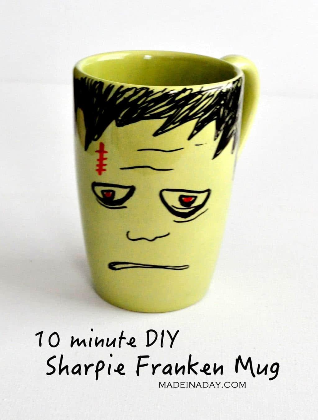 DIY Frankenstein Sharpie Mug