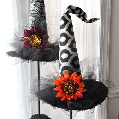 Decorative Halloween Witch Hats