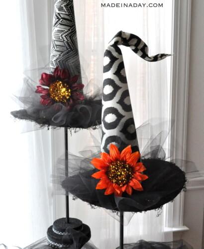 Spellbinding Halloween Witch Hats Topiaries 31