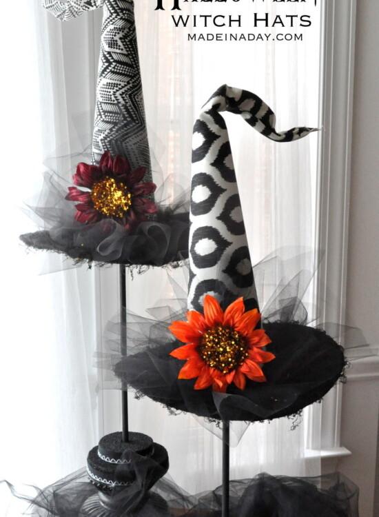 Spellbinding  Halloween Witch Hats Topiaries 6