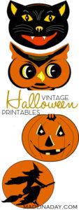 Charming Vintage Halloween Printable Garland 1