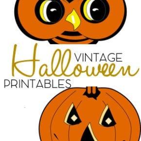 Charming Vintage Halloween Printable Garland 31