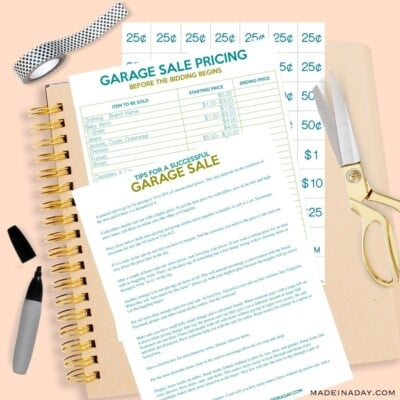 How to Host the Perfect Garage Sale Printable Set
