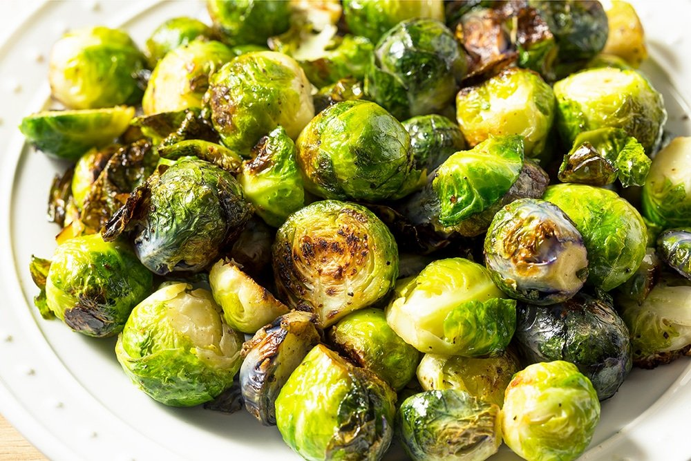 Oven Roasted Balsamic Vinegar Brussels Sprouts, keto low carb recipe