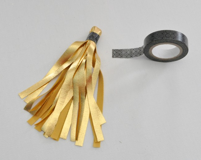 Gold tassel with Washi tape madeinaday.com