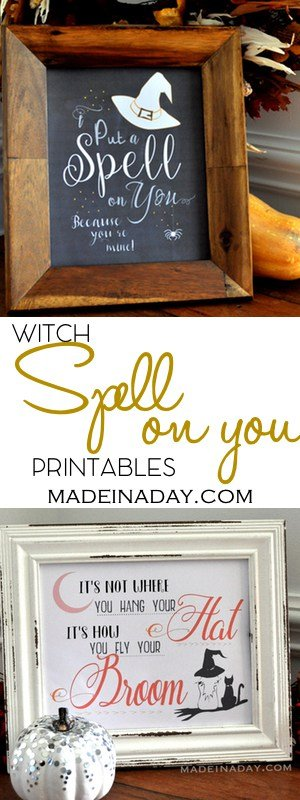 Witch Chalk Art FREE Printables 2