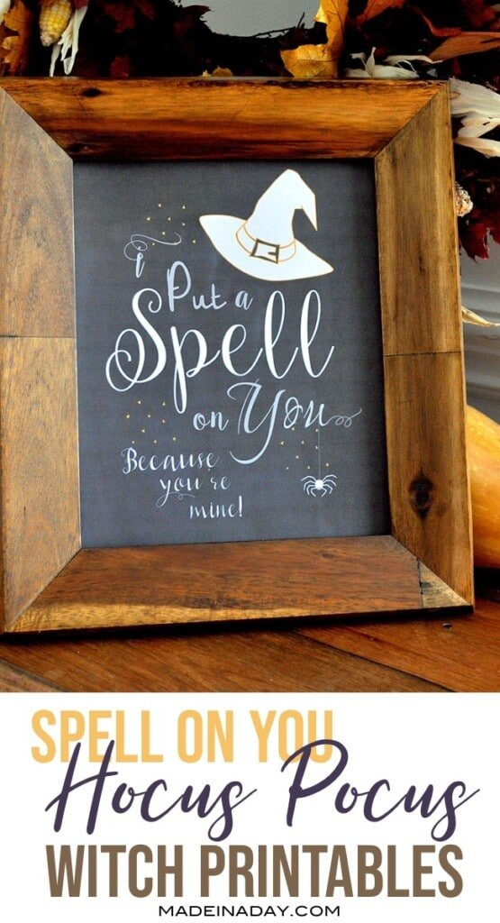 Hocus Pocus I Put a Spell On You Printable Free Download, witch wall art