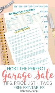 How to Host the Perfect Garage Sale Printable Set 1