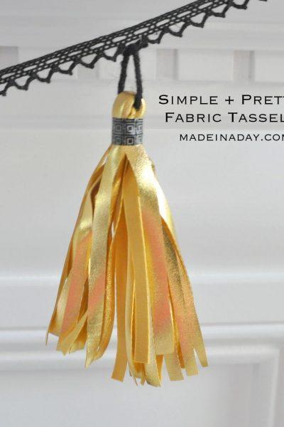 Simple Fabric Tassels