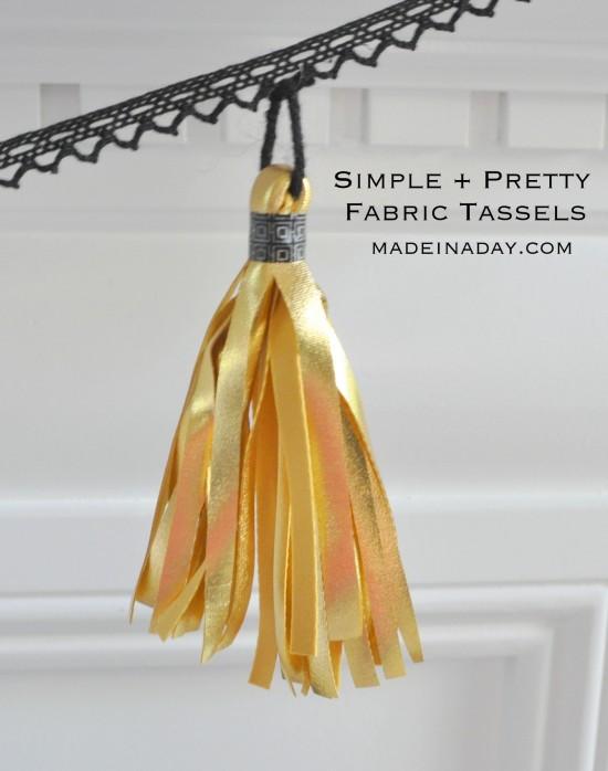 How to Make a Fabric Tassel tutorial madeinaday.com