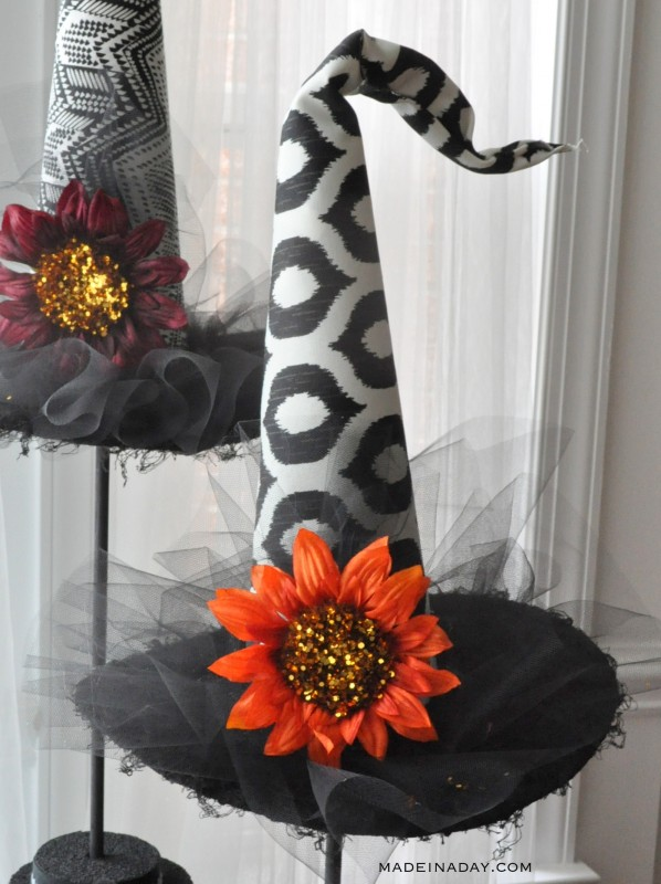 Decorative halloween witch hats for Modern halloween decor