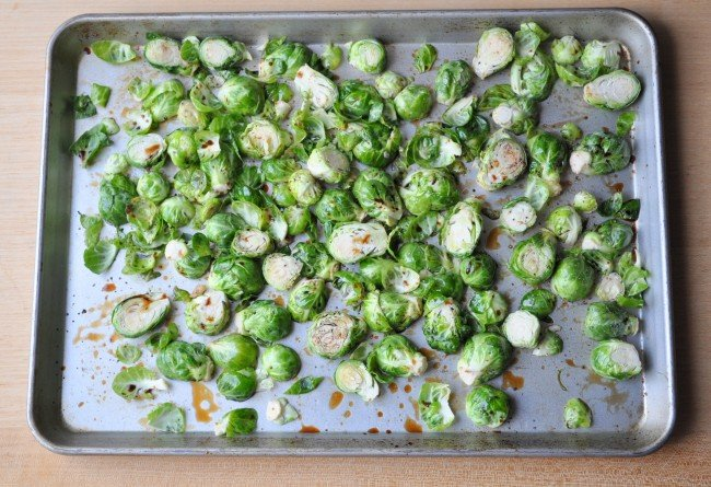 Oven Roasted Brussel Sprouts madeinaday.com