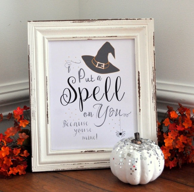 Put a Spell on You Free Halloween Printable madeinaday.com