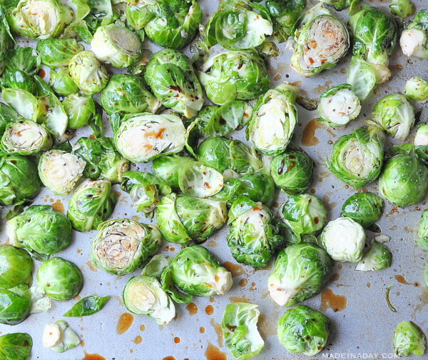 Balsamic Oven Roasted Brussels Sprouts