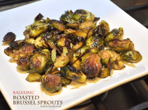 Roasted Brussel Sprouts Balsamic madeinaday.com