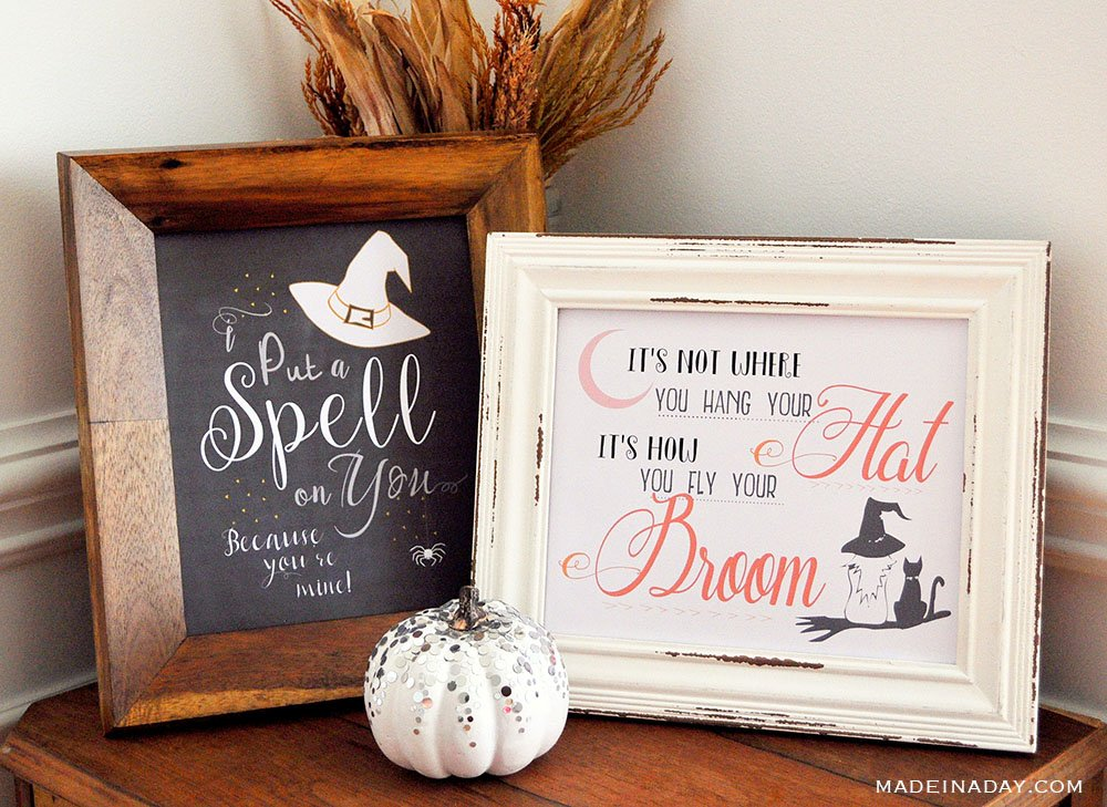 Hocus Pocus Spell On You Printable, witch quote printables