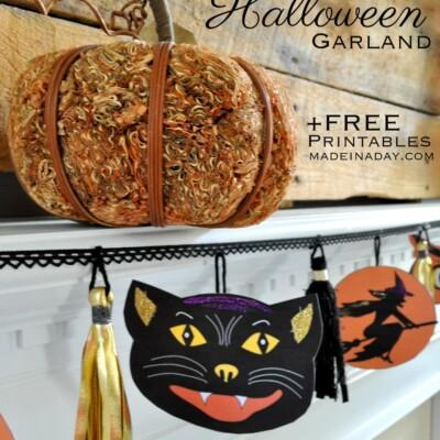 Vintage Halloween Printable Garland