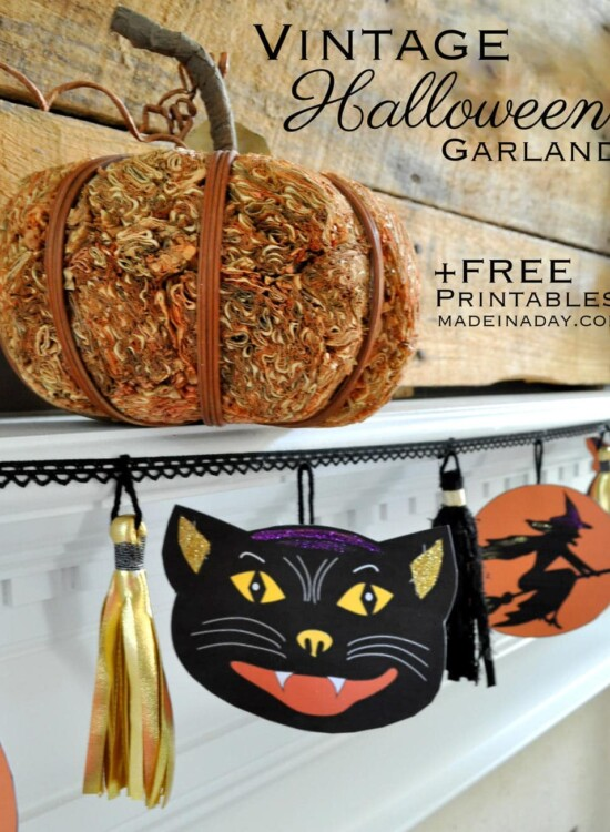 Charming Vintage Halloween Printable Garland 5