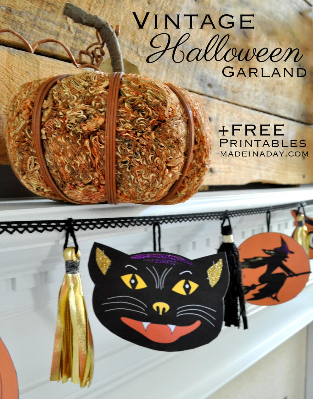 It's just a picture of Clean Vintage Halloween Printable