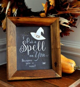 Witch Spell on You Free Printable Halloween Chalk Art madeinaday.com