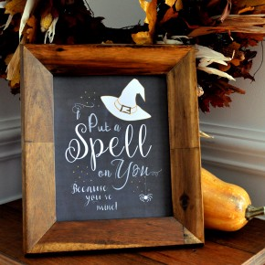 Witch Chalk Art FREE Printables