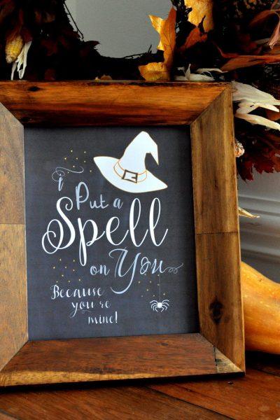 Witch Chalk Art FREE Printables