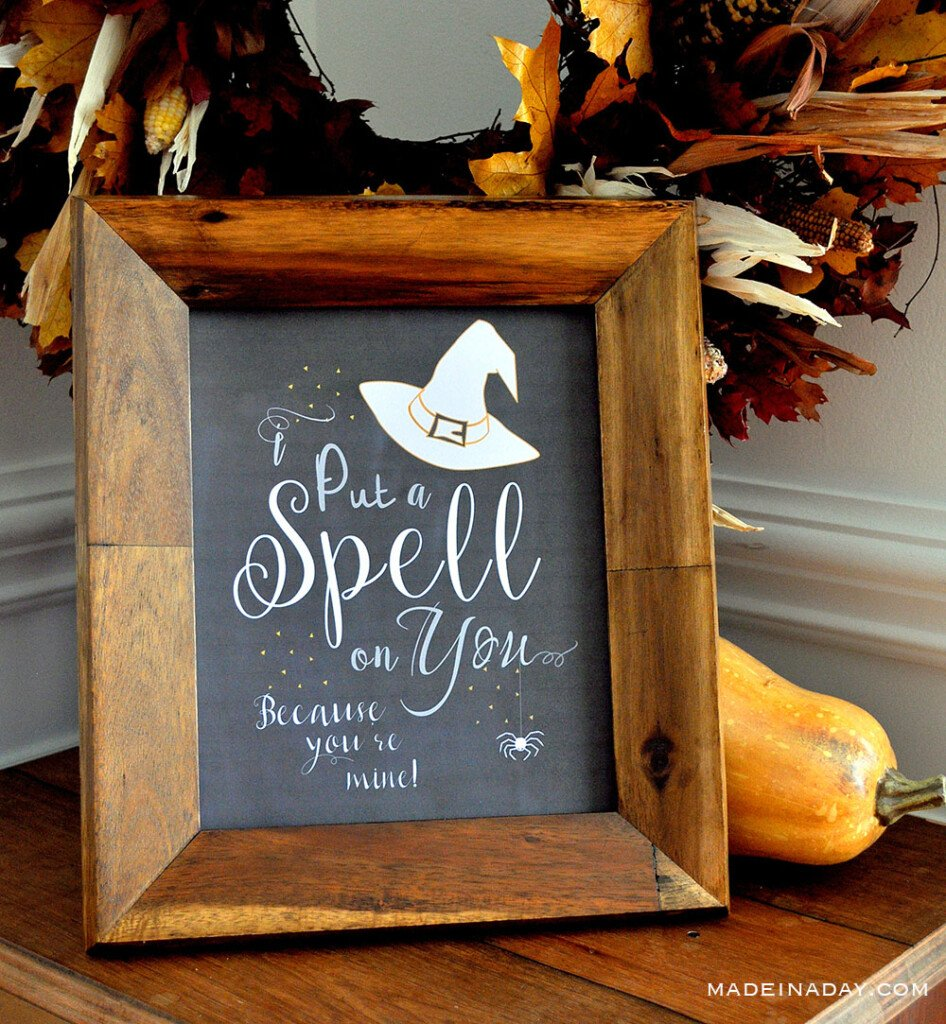 Hocus Pocus I Put a Spell On You Printable Free download, Halloween Hocus Pocus Decor Sign