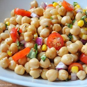 Balsamic Chickpea Jardiniere Salad Vinaigrette