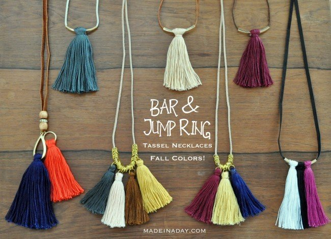 Bar Tassel Jump Ring Tassel Necklaces