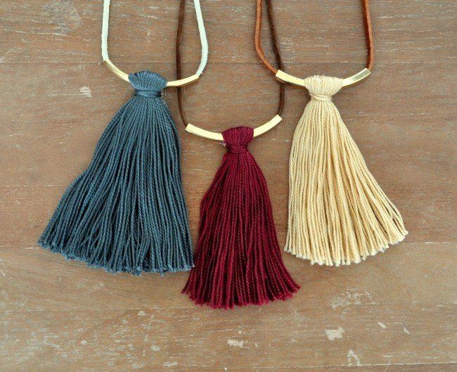 Bar Tassel Necklaces Tutorial on madeinaday.com