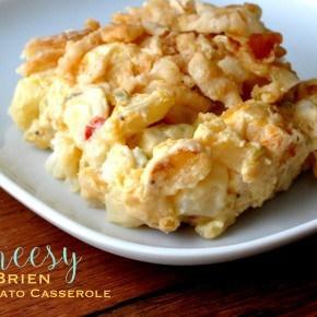 Cheesy O Brien Potato Casserole Recipe madeinaday.com