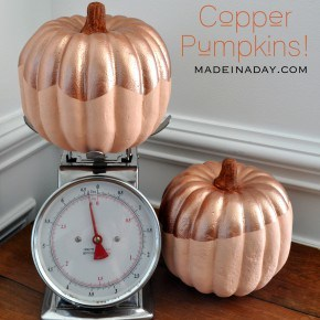 Copper Top Painted Pumpkins madeinaday.com