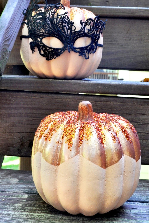 Metallic Color Block Pumpkins