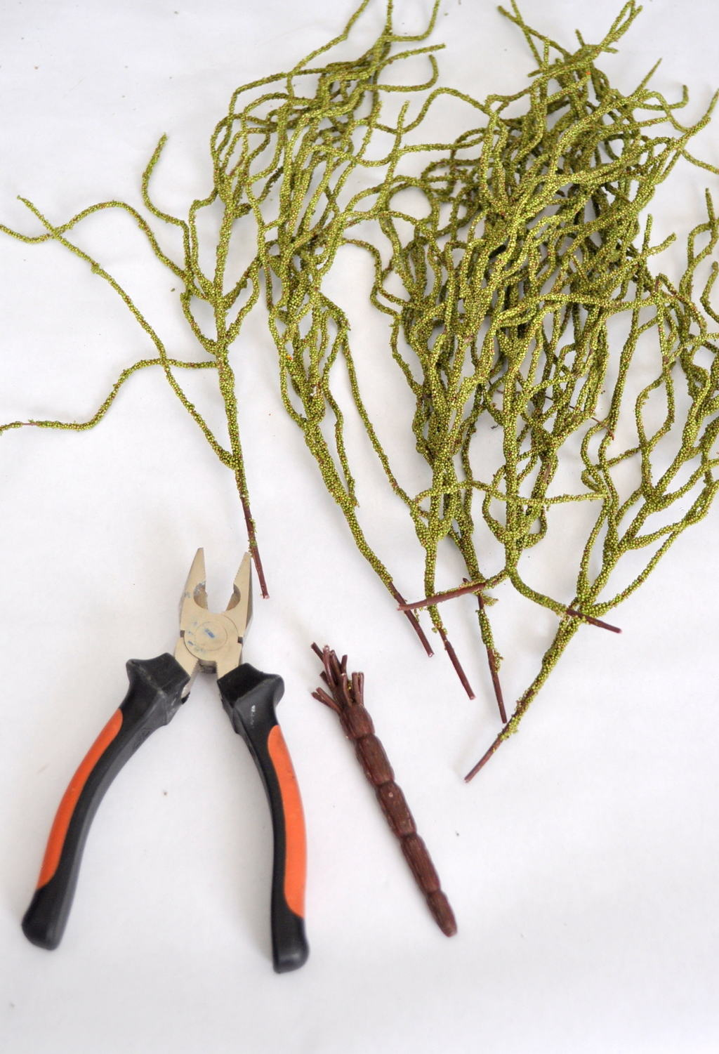 Cut stems away from branches for floral design madeinaday.com