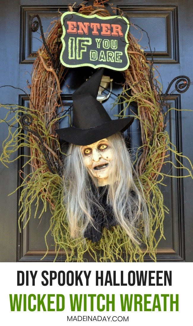 Make a halloween Witch Wreath, witch door hanger,