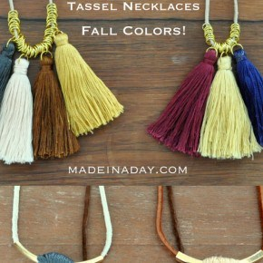 Simple Fall Colors Tassel Necklaces 1