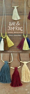 Fall Colors Tassel Necklaces 1