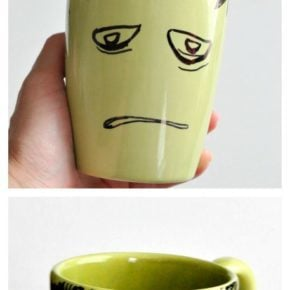 DIY Frankenstein Sharpie Mug 31