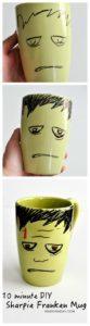 DIY Frankenstein Sharpie Mug 1