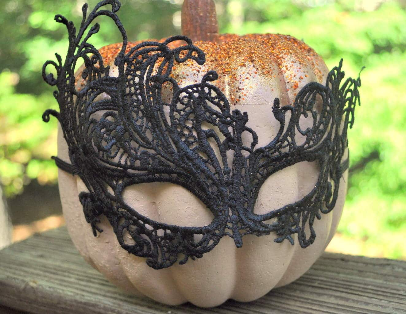 Halloween Masquerade Copper Pumpkin madeinaday.com