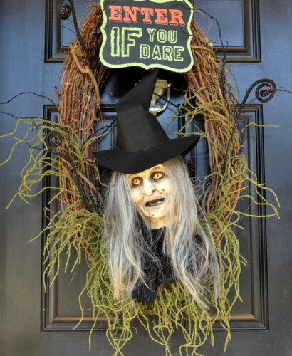 Wicked Witch Halloween Wreath 37