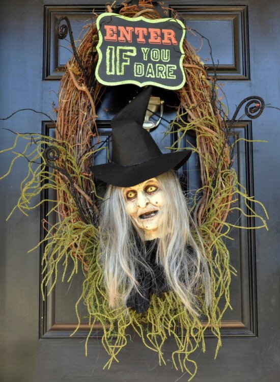 Wicked Witch Halloween Wreath 2