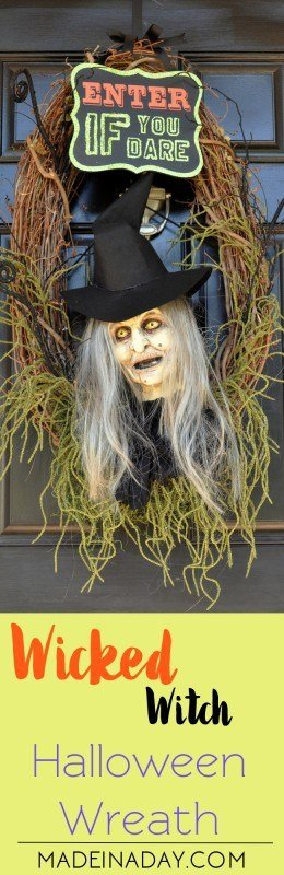 Wicked Witch Halloween Wreath Paint a Witch madeinaday.com