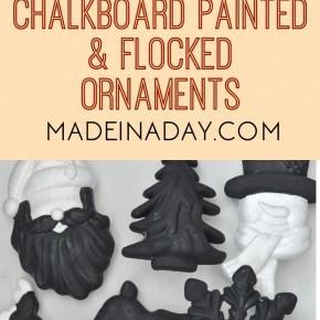 Chalkboard Flocked Ornaments 1
