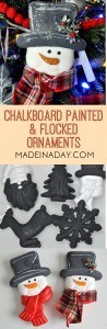 Chalkboard Flocked Ornaments 1