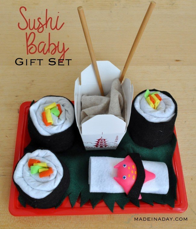diy sushi baby shower gift tutorial