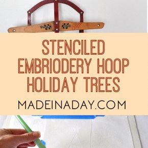 Festive Farmhouse Embroidery Hoop Holiday Tree Collage 1